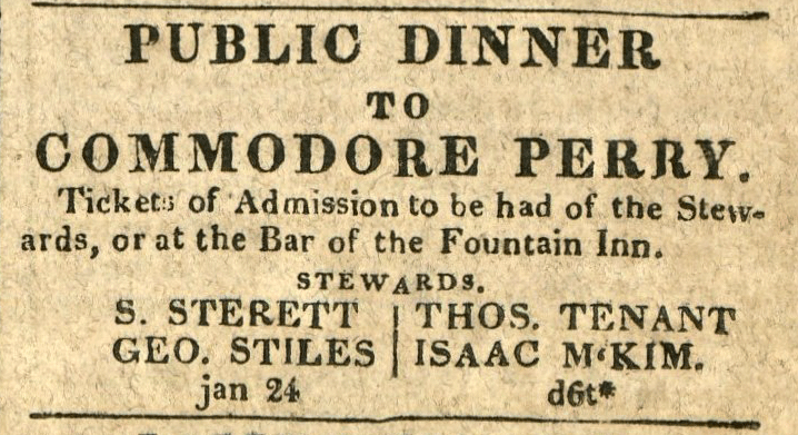 Public Dinner to Commodore Perry