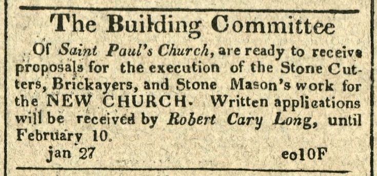 The Building Committee of St. Paul's Church is ready for proposals