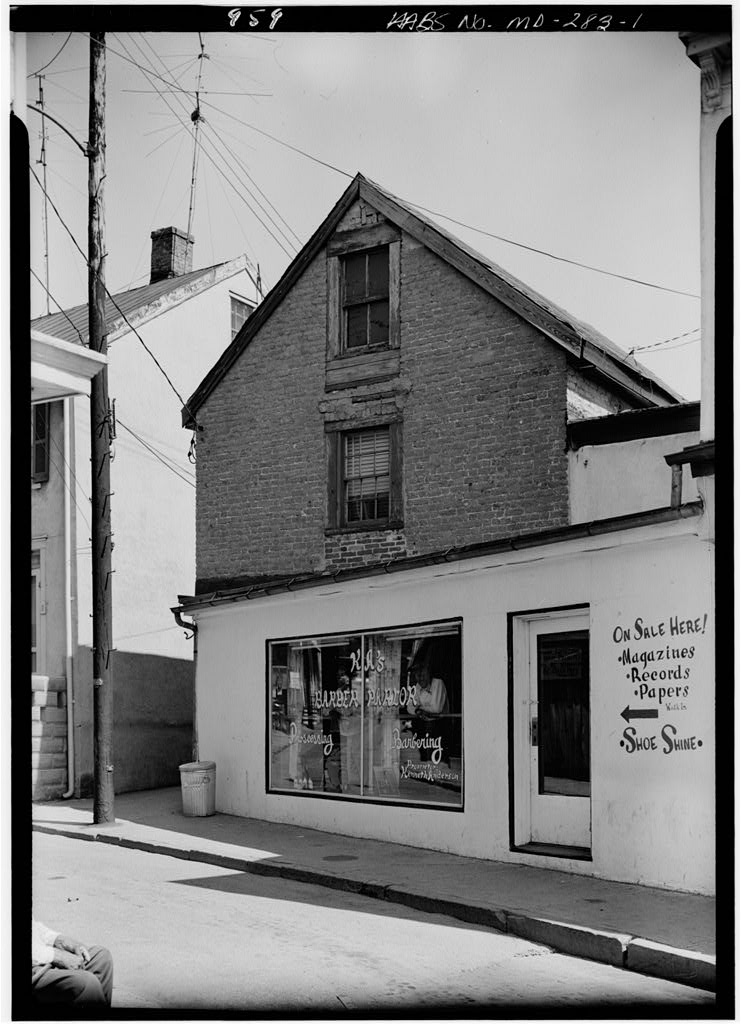 Tobacco Prize Warehouse, 14 Pinkney Street, Annapolis, Jack Boucher, May 1960. HABS MD,2-ANNA,64-