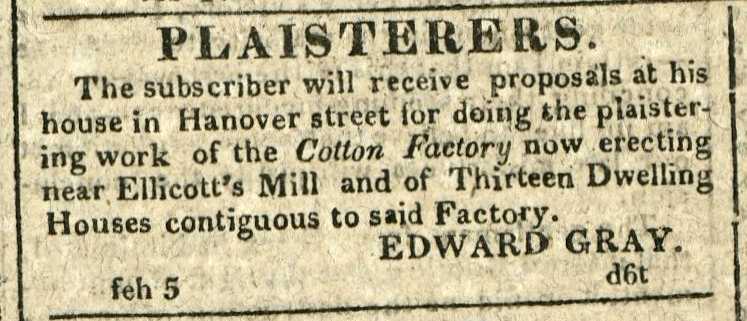 Advertisement: PLAISTERERS.