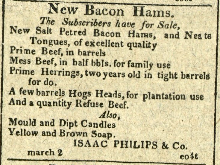 Advertisement: New Bacon Hams