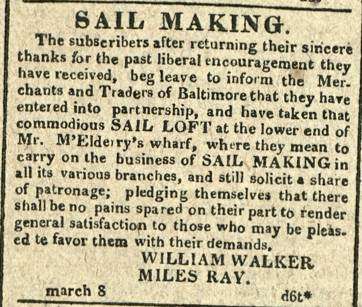 Advertisement: SAIL MAKING.