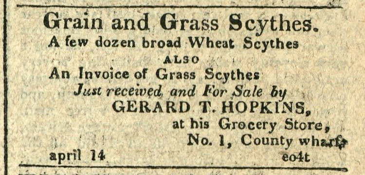 Advertisement: Grain and Grass Scythes