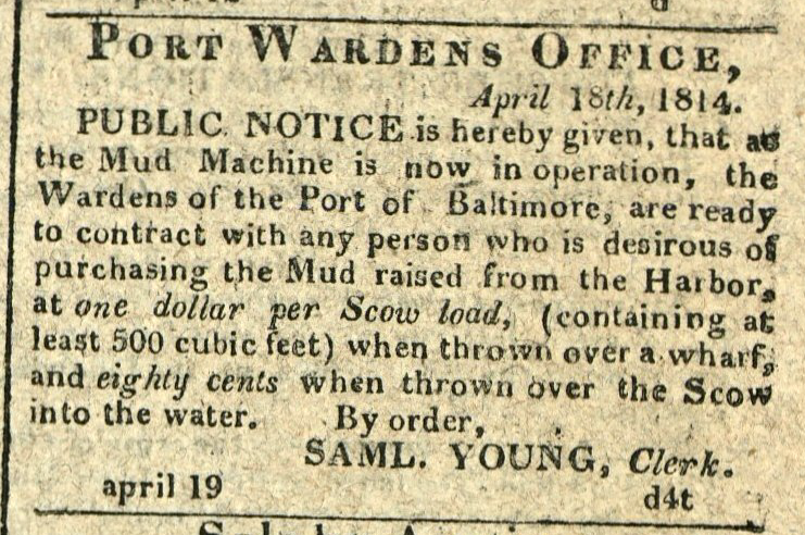 Advertisement: Public Notice is hereby given, that as the Mud Machine is now in operation…