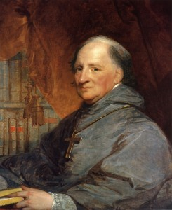 Portrait of Bishop John Carroll, by Gilbert Stuart Date, circa 1806. Georgetown University Library.