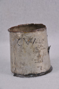 Detail of a grog cup, U.S. Navy