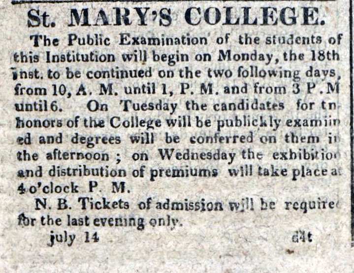 American Commercial and Daily Advertiser, July 14, 1814. Maryland State Archives SC3392