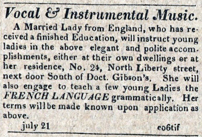 American Commercial and Daily Advertiser, July 21, 1814. Maryland State Archives SC3392