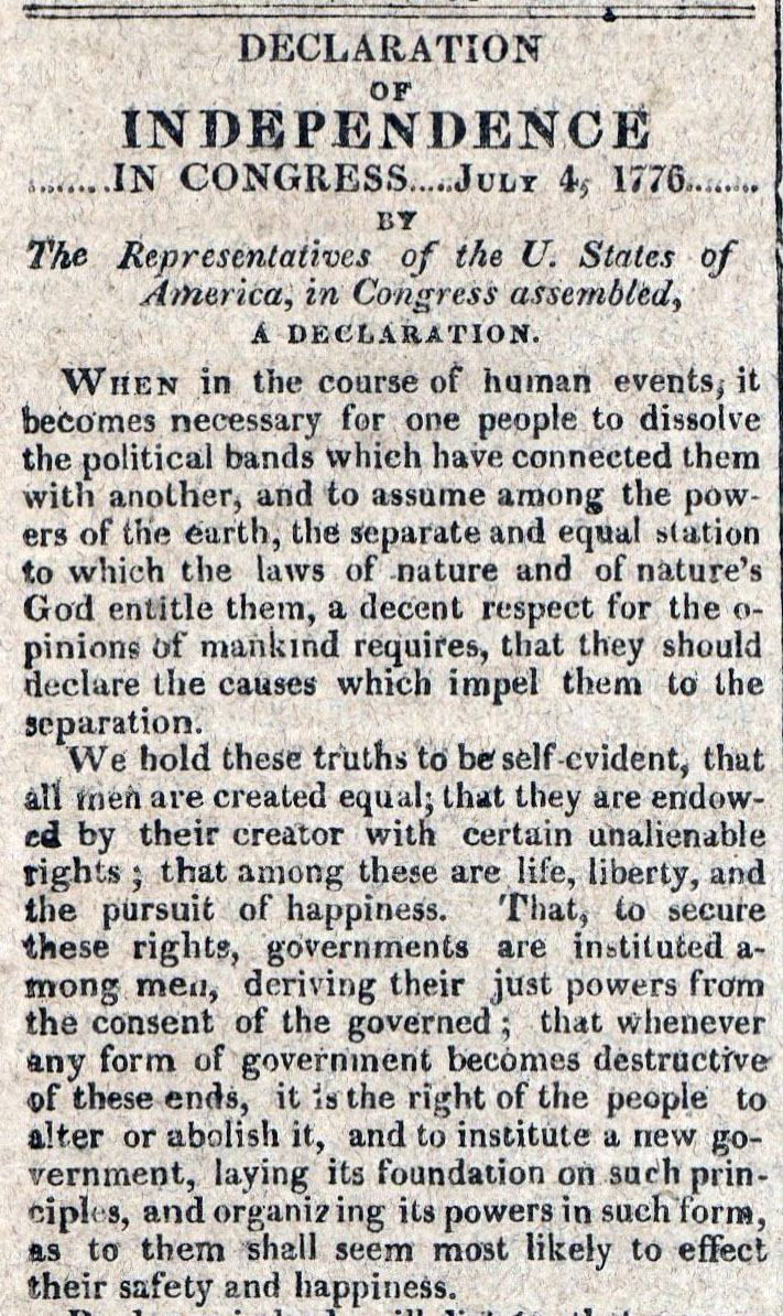 American Commercial and Daily Advertiser, July 4, 1814. Maryland State Archives SC3392