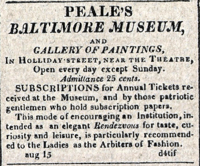 American Commercial and Daily Advertiser, August 15, 1814. Maryland State Archives, SC3392.