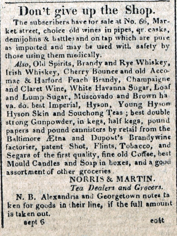 American Commercial and Daily Advertiser, September 6, 1814. Maryland State Archives, SC3392.